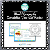 World Geography Year End Review Customizable Escape Room / Breakout Game