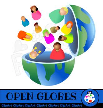World Globe Internet Concept Clip Art