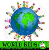 World Globe Kids Clip Art