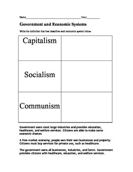 Icivics Government And The Economy Worksheet Answers ...