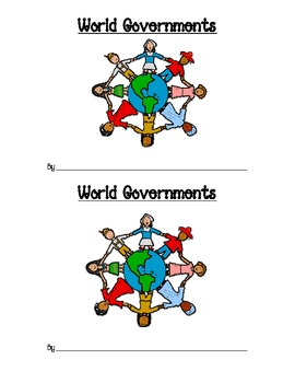 World Governments Flipbook -- Democracy, Dictatorship, Monarchy