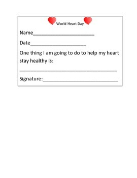 World Heart Day Packet