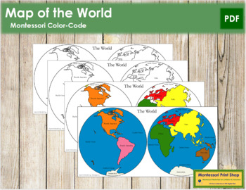 World (Hemispheres) Maps and Masters