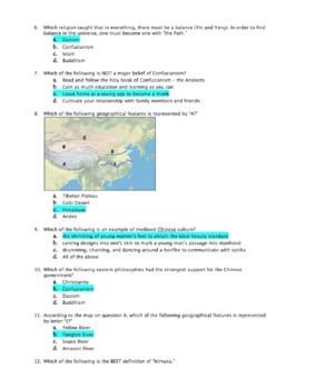World Hist Test: China / Sui, Tang, Song, Yuan, and Ming Dynasties