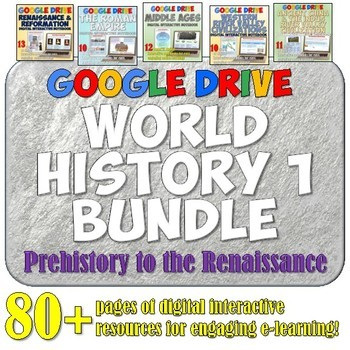 World History 1: Complete  Google Drive Interactive Notebo