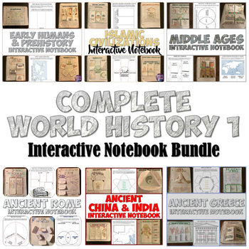 World History 1 Interactive Notebook Bundle
