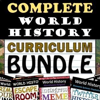World History Curriculum Bundle - 10th Grade - Updated 2019!!