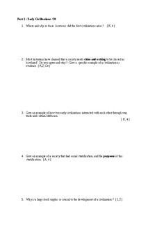 World History 11 Final Exam ( CHW3M )