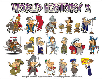World History 2 Cartoon Clipart By Ron Leishman Digital Toonage Tpt