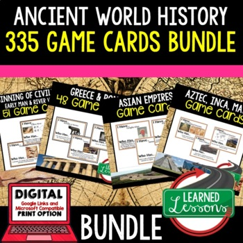 World History Game Cards Part 1 BUNDLE (Early Man to Renai