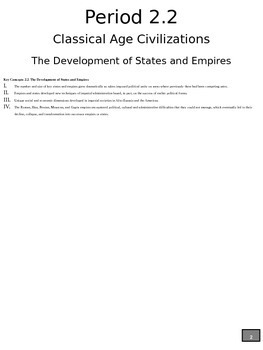 World History #4 - #7: Free Note Packet
