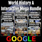 World History A (Prehistory - 1650) Interactive Mega Bundle