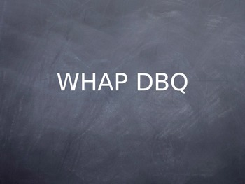 World History AP DBQ Strategy