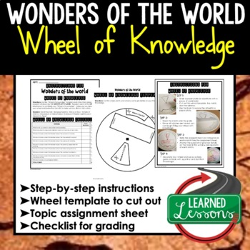 World History Activities, Wheel of Knowledge (Interactive Notebook) BUNDLE