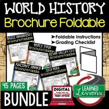 World History Activities, World History Foldable BUNDLE
