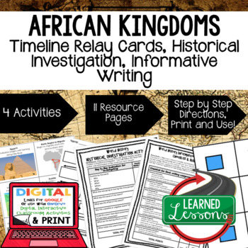 African Kingdoms Timeline & Writing Activities with Google Link World History