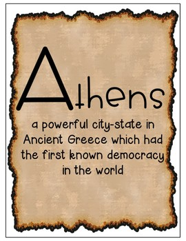 World History Alphabet Poster Set: Ancient Parchment Paper Theme