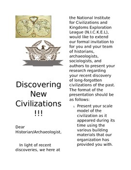 World History Ancient Civilization Group Project and Presentation