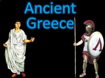 Ancient Greece Athens & Sparta PowerPoint Lesson & Activit