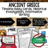 Ancient Greece Timeline & Writing Activities with Google Link World History