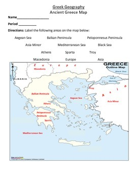 World History: Ancient Greece Unit Interactive Notebook