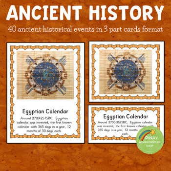 World History: Ancient Times 3 Part Cards