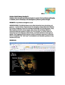 World History Annotated Websites