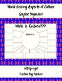 World History Aspects of Culture Graphic Organizer Student Notes with Key