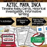 Aztec, Maya, Inca Timeline & Writing Activities Google Lin