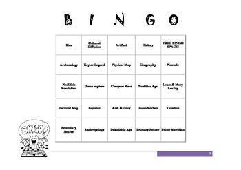 World History Bingo - Prehistory