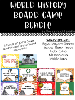 World History Board Game Bundle