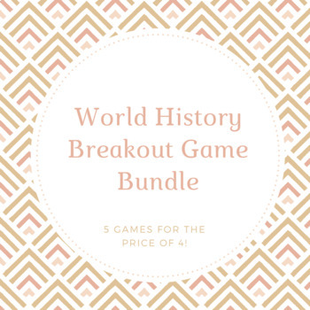 World History Breakout Game Discount Bundle - (See Content Below)