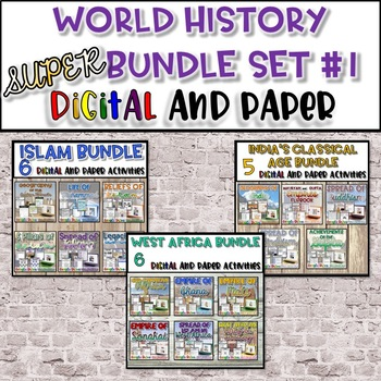 World History SUPER Bundle {Set #1}