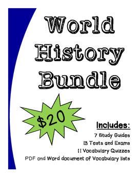 World History Bundle (Assessments)