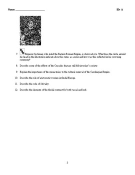 World History - Byzantine Empire (400-1300) Discussion/Essay Questions