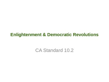 World History (CA) Democatic Revolutions Unit PowerPoint 2013
