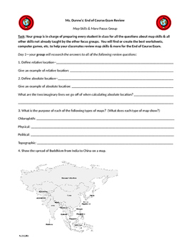 World History CCE review map and more