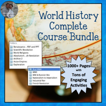 World History COMPLETE COURSE Curriculum Bundle