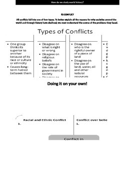World History: CONFLICT Handout for students