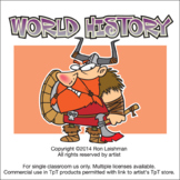 World History Theme Clipart |  History Clipart | World History Cartoon Clipart