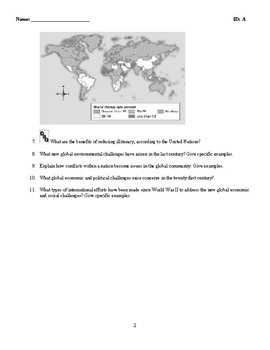 World History - Challenging Global Patterns - Discussion/Essay Questions