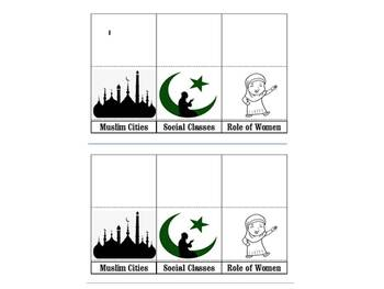 World History Chapter 10 Section 3 Muslim Culture foldables