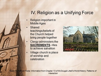 World History: Chapter 13 Middle Ages Section 4 The Power of the Church