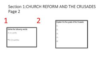 World History: Chapter 14, Crusades Notes and Map Activity