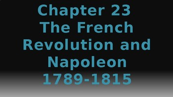 World History: Chapter 23 The French Revolution and Napoleon