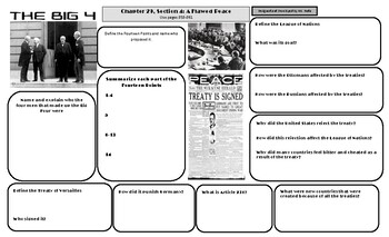 World History Chapter 29 Section 4 A Flawed Peace WWI