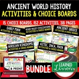 World History Activities Choice Boards BUNDLE, Digital Dis