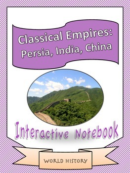 World History: Classical Empires Unit Interactive Notebook