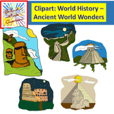 World History Clipart - Acient World Wonders - Easter Island Great Sphinx