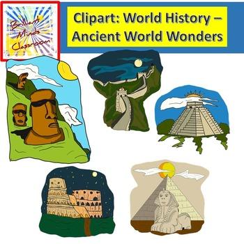 World History Clipart - Acient World Wonders - Easter Isla